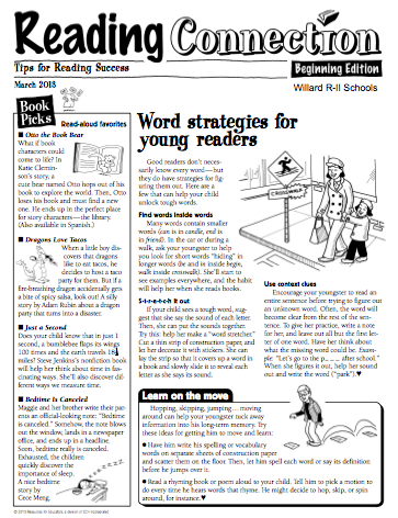 March Reading Connection p.1