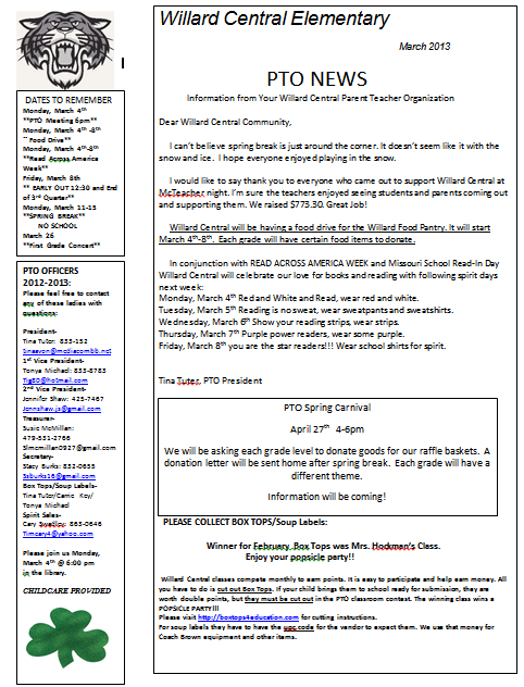 march pto newsletter